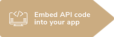 Embed API code into your app